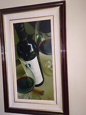 Arvid Opus One print. Original signed and numbered in  mahogany frame