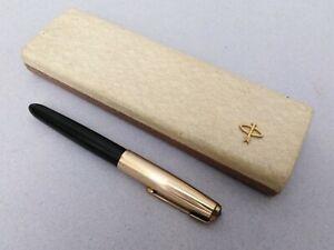 Parker 51 Aerometric Dark Green Fountain Pen 12K Gold Filled Cup Vintage USA