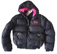 EVERLAST GIRLS WARM PUFFER JACKET WINTER COAT BLACK PINK WHITE 8 10 12 14 16 18