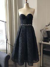 Erdem Demet Beaded Strapless Corset Party Dress, Black Size 10 RRP £2,520