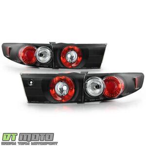 For Black 2003-2005 Honda Accord 4-Door Sedan Tail Lights Brake Lamps Left+Right