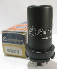 One 1950 RCA/Cunningham 6SC7 tube - New Old Stock / New In Box