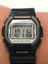 Black Rubber Digital Watch