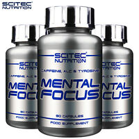 MENTAL FOCUS 90/180 Capsules Brain Support Health Alertness Concentration Energy