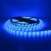 Waterproof SMD 5050 LED Strip 12V 60leds/m Flexible Tape Rope Light Blue