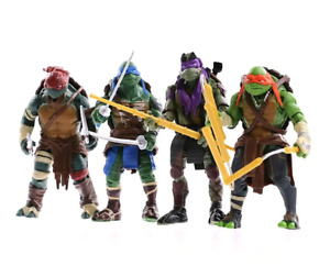4pcs Teenage Mutant Ninja Turtles Action Figures Anime Model Toy Gift