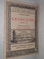 GEORGICHE LIBRO III P Virgilio Marone Gianni Gervasoni 1936 classici latini di