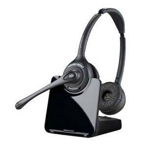LOT of 6 - New Plantronics CS520-XD Wireless Headband Headsets - Black