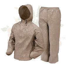 Frogg Toggs  Ultra-Lite II Rain Suit Gear Hiking Camping FREE shipping Khaki 2XL