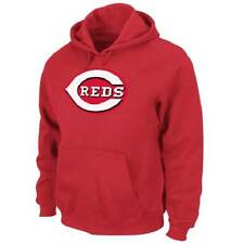 NWT Majestic Cincinnati Reds Men's Suede Tek Patch Fleece Hoodie Sweatshirt -Red