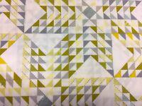Robert Kaufman Studio Stash 3 Triangles Lemon 100% cotton fabric by the yard