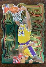 SHAQ 1996-97 Fleer Metal Net-Rageous Insert SHAQUILLE O'NEAL #7, Lakers
