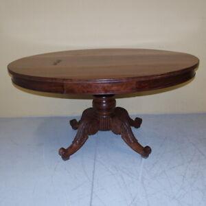elegante grande tavolo Carlo X 1830 in mogano massello