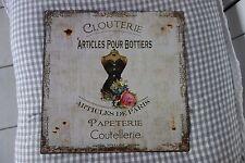 Shabby Blechschild Wandbild Bild Clouterie Artcles De Paris Retro 30x30cm Metall