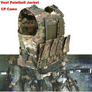 Military Tactical Hunting Adjustable Vest Paintball Jacket Carrier Combat