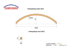 Lärche Leimholzbogen Ri2m Dach Holzbogen Runddach  Bauwagen Baumhaus wood arc