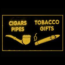 200056 Cigars Pipes Tobacco Cigarette Lighter Display Led Light Sign