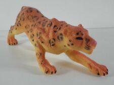 "Orange Leopard 6"" Long PVC Animal Figure Greenbriar International"