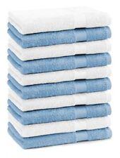 Betz 10 Stück Seiftücher Seiflappen PREMIUM 30x30cm hellblau & weiß