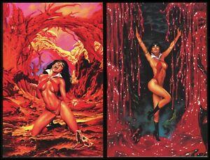 Vampirella Blood Lust Comic Set 1-2 Vampire Horror Joe Jusko art Virgin Variants