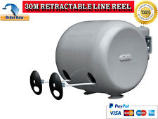 MINKY 30m RETRACTABLE REEL CLOTHES OUTDOOR DOUBLE WASHING CLOTHES LINE