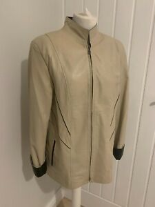 Lovely womens leather jacket by Vitto & Lugo, size 44 (14), New / Unworn