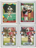 JERRY RICE CARD LOT OF 4 NFL SAN FRANCISCO 49ERS #4-1