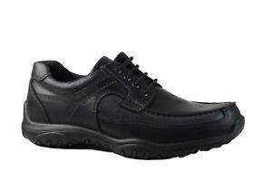 Imac Italia Black leather laced comfort shoe. EU 41. MADE IN ITALY