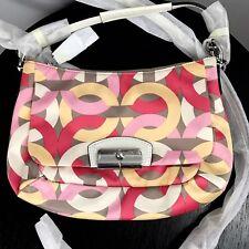 NWT COACH Kristin Op Art Chain Link East West Crossbody Bag F22743 Handbag