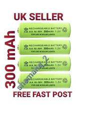 Rechargeable Solar Light 4 Batteries Set AA Ni-MH300mAh  1.2 V