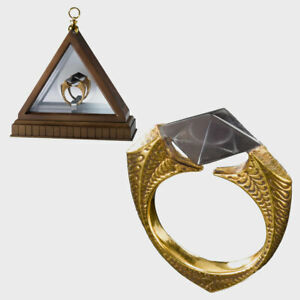 Harry Potter Collectable Marvolo Gaunt's Ring Horcrux Display Resurrection Stone