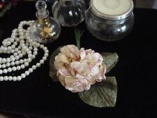 VELVET MILLINERY FLOWERS - BUNCH OF PALE PINK & CREAM VIOLAS