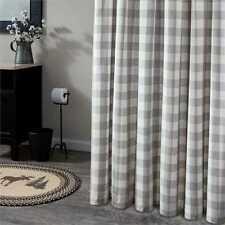 WICKLOW Dove Shower Curtain Grey/White Buffalo Check Cotton Farmhouse Bath 72x72