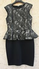 Lace topped dress with added sequins and  peplum plus a black skirt size 10