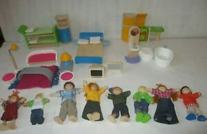 Plan Toys Dollhouse Furniture & Figures Toy Lot