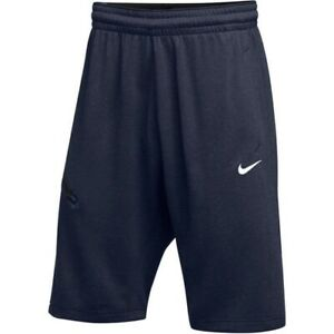 "New Nike Basketball Hangtime Shorts 23"" DriFit AJ6717-419 $45 Navy Blue"