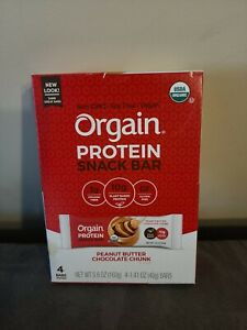 Orgain Protein Snack Bar, Peanut Butter Chocolate Chunk, 4 Ct