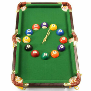 Pool ball wall clock based  snooker table novelty gamesroom unique mancave gift