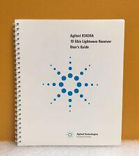 HP / Agilent 83434-90001 83434A 10 Gb/s Lightwave Receiver User's Guide