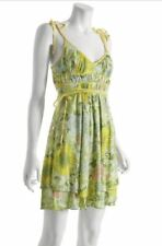 EUC Miss Sixty 60 Adelasia yellow floral dress S M