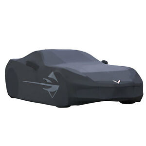 2014-2019 C7 Corvette Genuine GM Black Outdoor Car Cover Stingray Logo 23142884