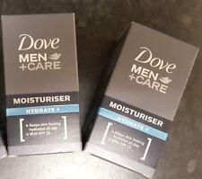 2 x New & Boxed Dove Men+Care Hydrate+ Moisturiser SPF15 50ml