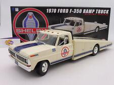 """ACME A1801404 # Ford Shelby F-350 Ramp Truck Baujahr 1970 in """" weiß-blau """" 1:18"""