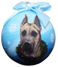 """Fawn Great Dane-Shatterproof Ball Ornament-3""""- by E & S Pets"""