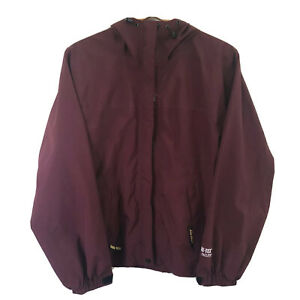 Bass Pro Shops Gore-tex Paclite Rain Jacket Windbreaker Burgundy Maroon Sz Small