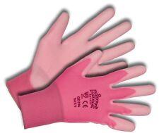 KIXX Damen Handschuh Nylon Polyurethan Rosa Pink Gr.7 leichter Schutz bequem