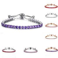Women's Rhinestone Crystal Bracelet Adjustable Bangle Fashion Cuff Jewelry Gifts