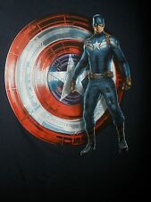 New with Tags Marvel Captain America Mens Blue Decal T Shirt Size L 100% Cotton