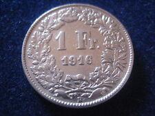 """MDS SCHWEIZ 1 FRANKEN 1916 B """"HELVETIA"""", SILBER    #13"""