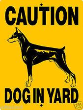 "DOBERMAN PINSCHER  DOG SIGN ,9""x12"" ALUMINUM SIGN,GUARD DOG,WARNING 3705A2CY"